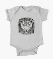 White Leopard with Yellow Eyes One Piece - Short Sleeve