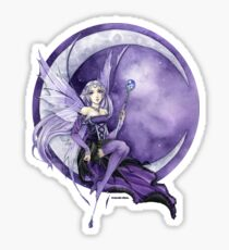 Purple Moon Gothic Anime Fairy Sticker