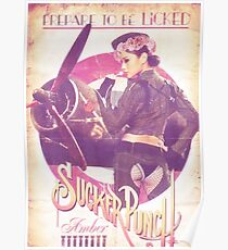 Amber Retro Blumenkrone Poster