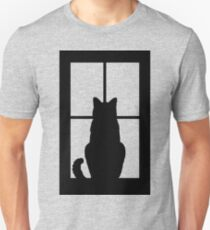 Window Cat Unisex T-Shirt