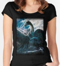 Saphira The Dragon From The Hit Eragon Movie Women's Fitted Scoop T-Shirt