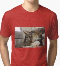 DisTurbing? Or disTurbed? Or just Turbo... Tri-blend T-Shirt