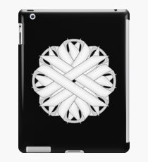 White Flower Ribbon iPad Case/Skin