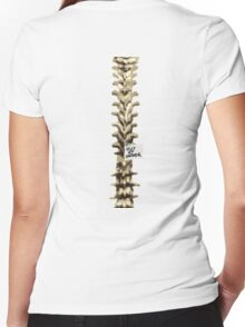 Out of Order Spine Women's Fitted V-Neck T-Shirt
