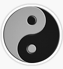 Yin Yang in Carbon Fiber Print Style Sticker
