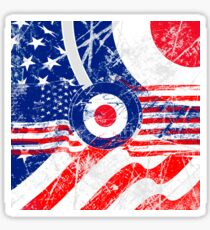Grunge Mod Target Roundel America Sticker