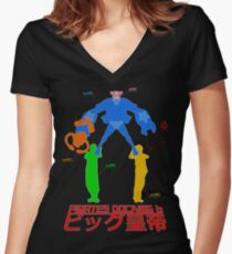 Camiseta entallada de cuello en V Tácticas 15, Pirate Docking 6, BIG EMPEROR