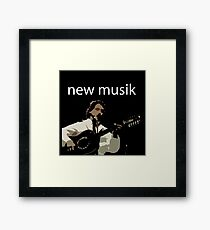 NEW MUSIK Framed Print