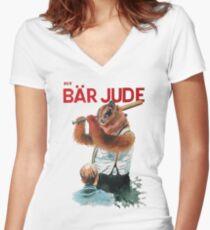 Der Bär Jude Women's Fitted V-Neck T-Shirt