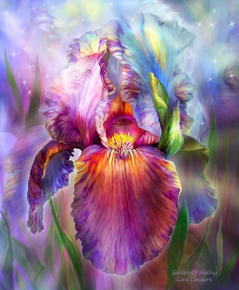 Quot Iris Goddess Of Healing Quot By Carol Cavalaris Redbubble