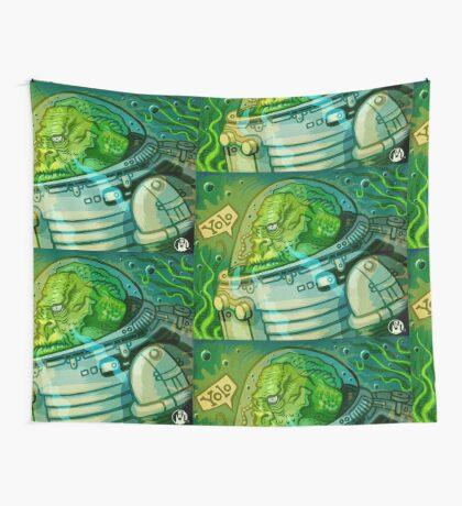 Fishmonkey! Wall Tapestry