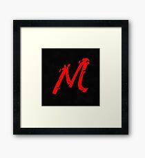 SLEEK M (RED) Framed Print