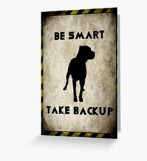 Take Backup Greeting Card