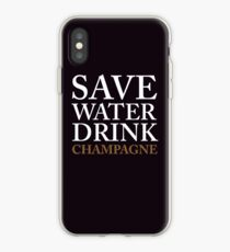 save water, drink champagne iPhone Case