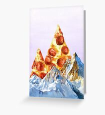Pepperoni Pizza Peaks Greeting Card