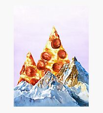 Pepperoni Pizza Peaks Photographic Print