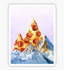 Pepperoni Pizza Peaks Sticker