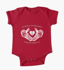 Diabetes Heroes Short Sleeve Baby One-Piece