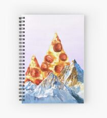 Pepperoni Pizza Peaks Spiral Notebook