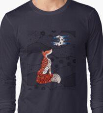 Fox and moon zentangle  T-Shirt