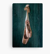 old ballet shoes Canvas Print