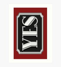 YES  cafe art deco style  Art Print