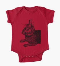 The Rabbit and Roses | Black and White Kids Clothes