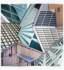 City Buildings Abstract Poster