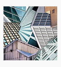 City Buildings Abstract Photographic Print