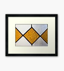 Vinage Stained Glass Framed Print