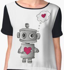 Valentine Robot Chiffon Top