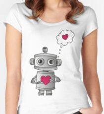 Valentine Robot Women's Fitted Scoop T-Shirt