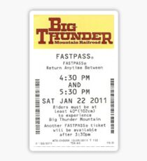 Big Thunder Mountain Railroad Fastpass Sticker