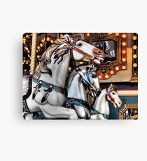 Vintage Horse Carousel Merry-Go-Round Carnival Ride  Canvas Print