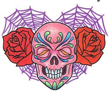 Splash of Color - Sugar Skull by asplashofcolor