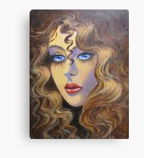 Lady with golden hair Canvas Print