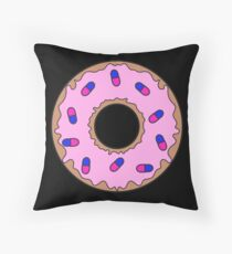 Donut and Pill Sprinkles Throw Pillow