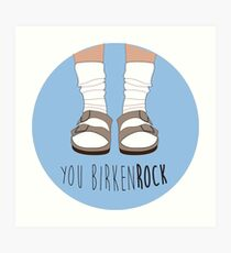 Birken-rock Art Print