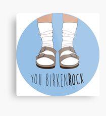 Birken-rock Metal Print