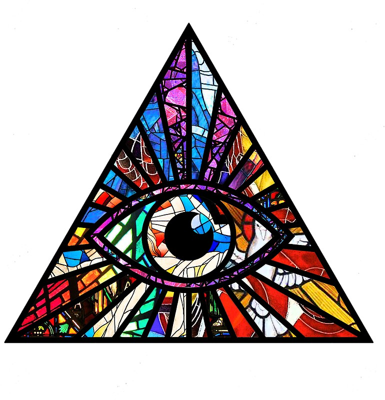 Quot Stained Glass Illuminati Eye Quot Stickers By Mythsinc