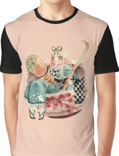 Alice Tea Ceremony Pink Graphic T-Shirt