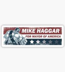 Mike Haggar Mayor of America Sticker