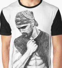 Shemar Moore Drawing Graphic T-Shirt