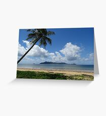 Mission Beach looking at Dunk Island - Queensland Greeting Card