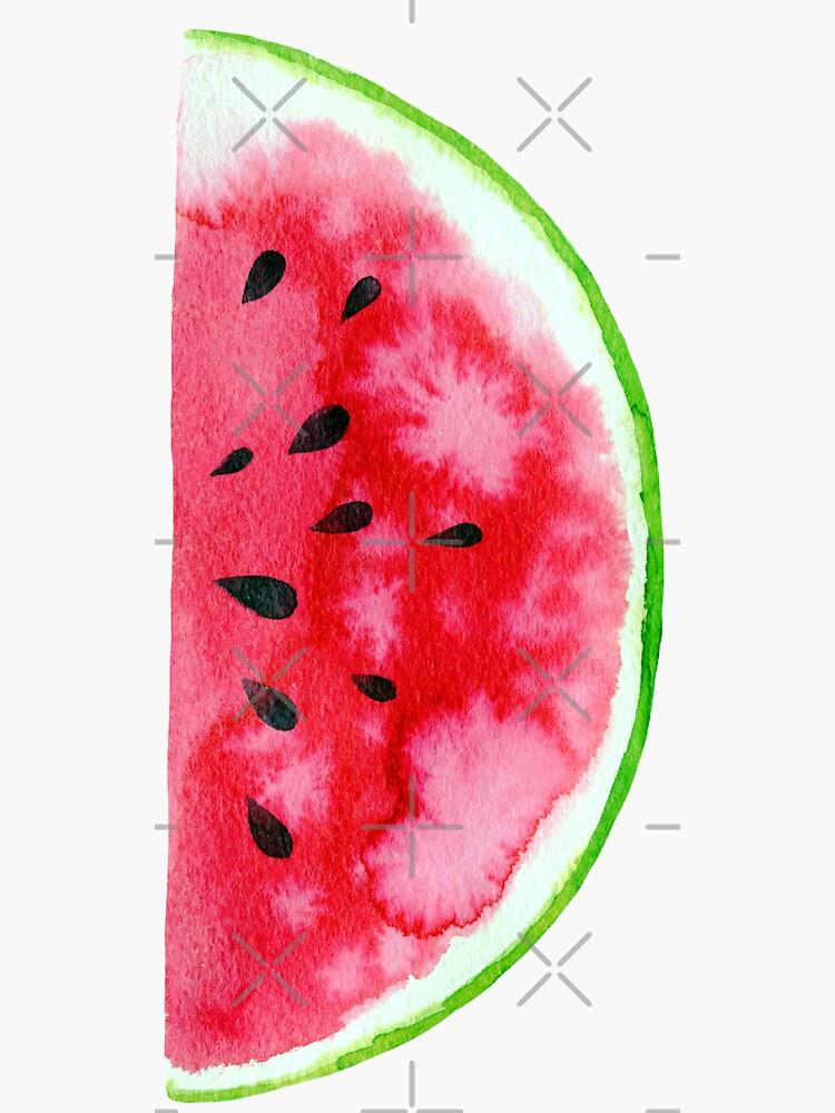 Watercolor watermelon slices  by natakuprova
