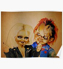 Chucky and his bride Poster