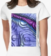 Purple Curve Womens Fitted T-Shirt