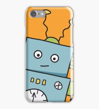 Friendly Blue Robot iPhone Case/Skin