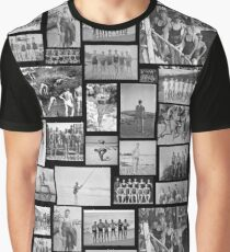 Vintage Swimmers - B&W  Graphic T-Shirt
