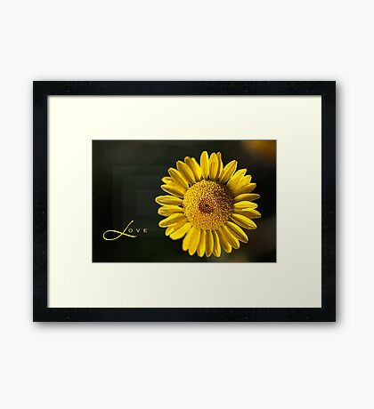 Shapes of LOVE Framed Print